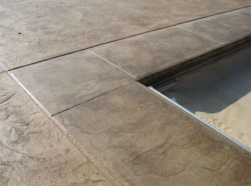 Integral Color Concrete Textured with Borders - Patios