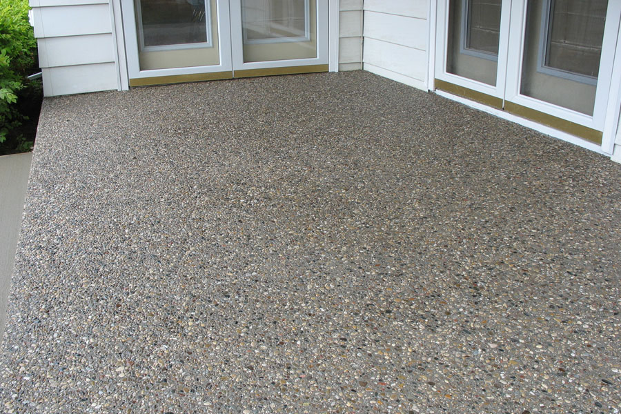 Exposed Aggregate Patio